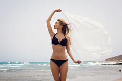 Schönes Mädchen im Bikini Lizenzfreies Stockbild