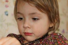 Schönes Mädchen im Spielzimmer Lizenzfreie Stockfotografie