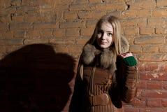 Schönes Mädchen im Winter lizenzfreies stockfoto