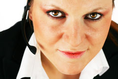 Schönes Mädchen mit dem Kopfhörer Lizenzfreies Stockfoto