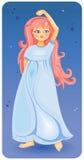 Schönes Mädchen mit dem rosafarbenen Haar Stockbild