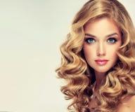 Schönes Mädchen mit einer eleganten Frisur stockfotos