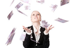 Schönes Mädchen mit Geld Lizenzfreie Stockfotos