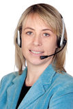 Schönes Mädchen mit Kopfhörer Lizenzfreie Stockfotos