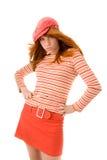 Schönes Mädchen mit Pinsel Lizenzfreies Stockfoto