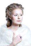 Schönes Mädchen mit Zauberweinlesemake-up Lizenzfreies Stockfoto