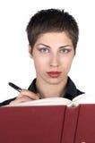 Schönes Mädchen-Schreiben Lizenzfreies Stockbild