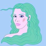 Schönes Mädchenporträt des Wassermannes Lizenzfreie Stockfotografie
