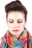 Schönes Mädchenportrait, mit sauberer Haut. Stockfoto