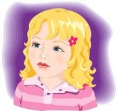 Schönes Mädchenportrait. Vektor Stockbilder