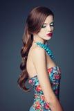Schönes Mädchenschönheits-Studioporträt Lizenzfreies Stockbild