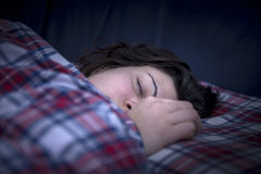 Schönes Mädchenschlafen Stockbild