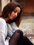 Schönes marokkanisches Mädchen in Padua Stockfotos