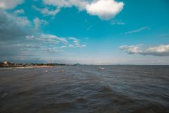 Schönes Meer Stockfoto