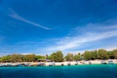 Schönes Meer bei Gili Trawangan, Indonesien. Lizenzfreies Stockfoto