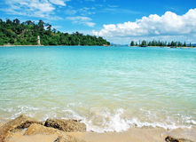 Schönes Meer in Langkawi Stockbilder