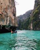 Schönes Meer und Berg Stockfotografie