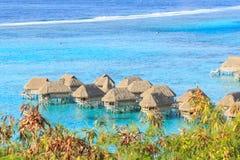 Schönes Meer und Erholungsort in Moorae-Insel bei Tahiti lizenzfreies stockfoto