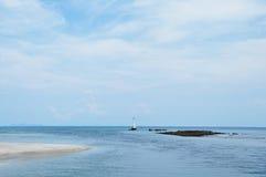 Schönes Meer und Himmel Lizenzfreies Stockfoto