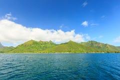 Schönes Meer und Moorae-Insel bei Tahiti, PAPEETE, FRANZÖSISCHES POLY stockbilder