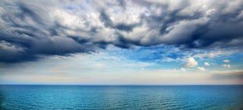 Schönes Meerblickpanorama Stockfoto