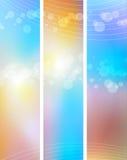Schönes mehrfarbiges bokeh Hintergrund der sonnigen Pastelle Lizenzfreie Stockfotos