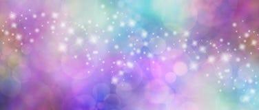 Schönes mehrfarbiges bokeh sparkly Websitetitel vektor abbildung