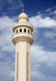 Schönes Minarett der Al Fateh Moschee Bahrain Lizenzfreies Stockfoto