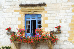 Schönes Mittelmeerfenster Stockfotografie