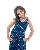 Schönes Mode-Mädchen, das für Foto aufwirft Stockfoto
