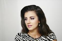 Schönes Modemädchen, mit Schmuck, Lizenzfreie Stockfotos