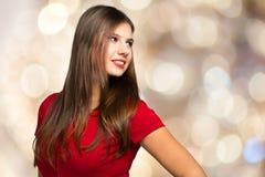 Schönes Modeporträt der jungen Frau stockfotos