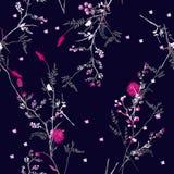 Schönes modisches Blumenmuster in vielen Art von Blumen bot Lizenzfreie Stockfotografie