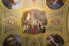 Schönes Mosaik auf der Decke des historischen Gebäudes Stockfoto