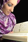 Schönes moslemisches Art und Weisemädchen stockbild