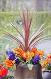 Schönes multiflowers Bett Lizenzfreies Stockfoto