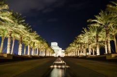 Schönes Museum der islamischen Kunst in Doha, Katar nachts Lizenzfreie Stockbilder