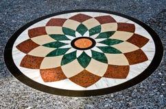 Schönes Muster auf Granitfußboden Stockbild