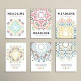 Schönes Muster des Vektormusters auf Druckerzeugnis Entwerfen Sie für Bücher, Fahnen, Seitenwerbung Stockbilder