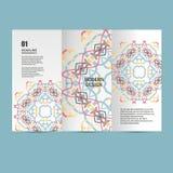 Schönes Muster des Vektormusters auf Druckerzeugnis Entwerfen Sie für Bücher, Fahnen, Seitenwerbung Stockbild