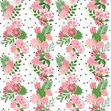 Schönes nahtloses Muster in der kleinen abstrakten Blume Kleine bunte Blumen Nette einfache Frühlingsblumen Stockbilder