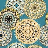 Schönes nahtloses Muster Element-Vektorillustration der Weinlese dekorative Lizenzfreie Stockfotografie