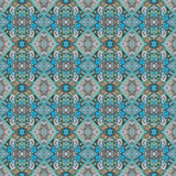 Schönes nahtloses Ostteppichdekorationsmuster, abstrakte Verzierung von um und Quadrat oder Rautenelemente Das Beschaffenheit bac Lizenzfreies Stockbild