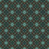 Schönes nahtloses Ostteppichdekorationsmuster, abstrakte Verzierung von um und Quadrat oder Rautenelemente Das Beschaffenheit bac Stockfotos