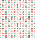 Schönes nahtloses Vektormuster mit Herzen Stockfotografie