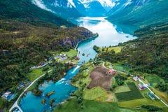 Schönes Natur-Norwegen-Luftbildfotografie Lizenzfreie Stockbilder