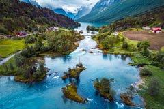 Schönes Natur-Norwegen-Luftbildfotografie Lizenzfreies Stockbild