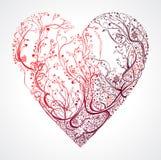 Schönes openwork Herz Stockbild