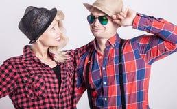 Schönes Paarlächeln Lizenzfreie Stockbilder