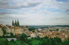 Schönes Panorama von altem Prag Lizenzfreie Stockfotografie